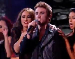 Kye Sones sings Let Me Entertain You by Robbie Williams on X Factor UK live halloween