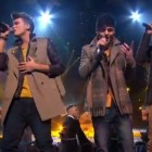 "Union J sing ""Bleeding Love"" by Leona Lewis in a mashup on X Factor UK live"