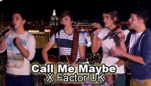 Union J sing Call Me Maybe by Carly Rae Jepsen on X Factor UK