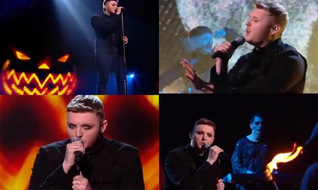 James Arthur sings Sweet Dreams by the Eurythmics on X Factor live Halloween show