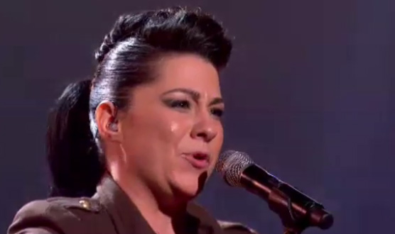 "Lucy Spraggan sings her own ""Titanium"" on X Factor live"