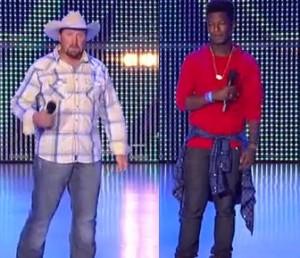 Tate Stevens vs Willie Jones singing 'Nobody Knows' X Factor USA