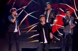 "Union J sing ""When love take over"" by David Guetta on X Factor live"