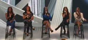 Fifth Harmony show how to sing in harmony with A Thousand Years on X Factor USA week 2