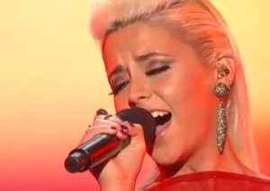 CeCe Frey looks shaken and upset after her X Factor USA survival song