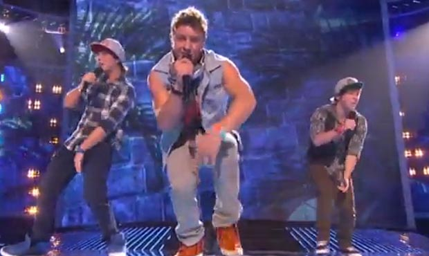 Emblem 3 sing a mashup of Californian Gurl by Katy Perry on X Factor USA live