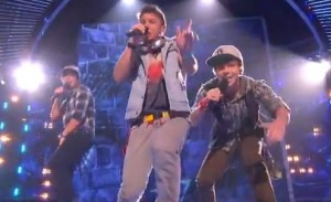 Emblem 3 show how to be a boyband and sing Californian Gurl by Katy Perry on X Factor USA live